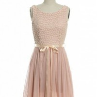 Bouquet of Hearts Dress in Pink