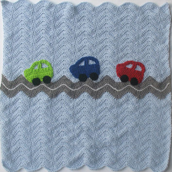 Classic Cars Baby Blanket, Cars & Trucks or Road Trip Nursery Theme, Crib, Carseat, Wall Hanging Blanket, Car Decor, Ready to Ship