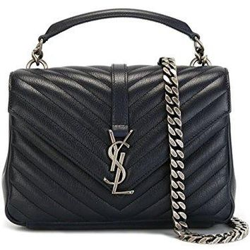 Saint Laurent Women's 428056BRM044147 Blue Leather Shoulder Bag  YSL bag