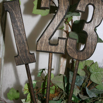 Wood table numbers / rustic wedding decor / country wedding / wedding decor / wedding decoration / wedding accessories
