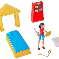 DC Super Hero Girls Wonder Woman Action Figure Bedroom Set, 6""
