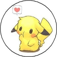 "PIKACHU LOVE 1.25"" Pinback Button Badge / Pin"