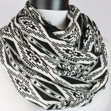 tribal  viscose scarf,infinity scarf, scarf, scarves, long scarf, loop scarf, gift