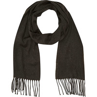 River Island MensGrey marl brushed woven scarf
