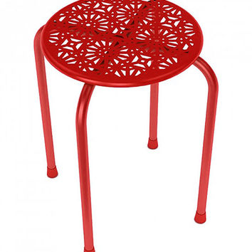 Dar Daisy Stackable Metal Stool Red One Size For Women 27432030001