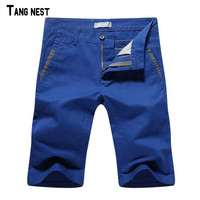 Shorts Men 2016 New Arrival Men's Solid Straight Casual Shorts Male Casual Summer Shorts MKD725