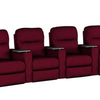 4-Seat Reclining Home Theater Seating (Curved) Pleasantville by Savvy