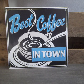 Vintage Coffee Sign, Retro Kitchen Wall Hanging: Modern Decor, Retro Decor, Vinyl Signs