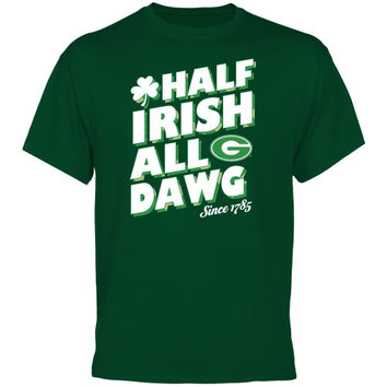 Georgia Bulldogs Half Irish Big and Tall T-Shirt - Green