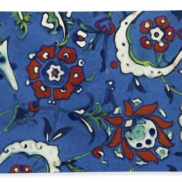 An Ottoman Iznik Style Floral Design Pottery Polychrome, By Adam Asar, No 15a - Bath Towel