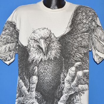 90s Flying Screaming Eagle Double Sided t-shirt Extra Large