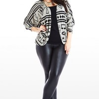 Plus Size Symbol and Sweet Aztec Cardigan | Fashion To Figure