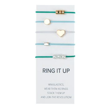 By Lilla Mix It Up Ring - Denim