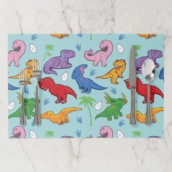 Cute Dinosaur Pattern Paper Placemat