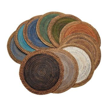 Shaded Rattan Placemat S/2 | 10 Colors