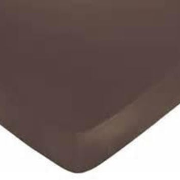 Brown Blue Egyptian Cotton Fitted Crib Sheet