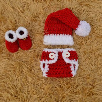 Santa Outfit For Baby Crochet Red Newborn Santa Photo Prop Outfit