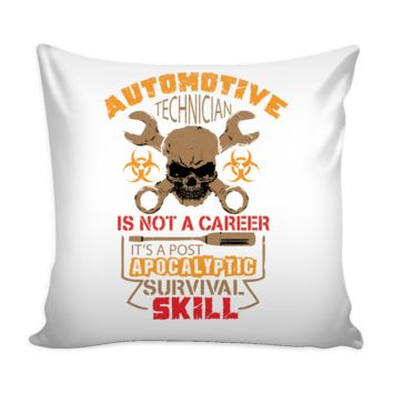 Funny Auto Tech Graphic Pillow Cover A Post Apocalyptic Survival Skill