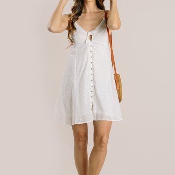 Annette Off White Eyelet Mini Dress
