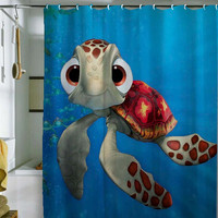 "nemo shower curtain by holidayshowercurtain size 36"" x 72"", 48"" x 72"", 60"" x 72"" , 66"" x 72"""