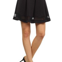 Sexy Solid Colors A-Line Pleated Flared High Waist Peplum Flirty Mini Skirt Mesh