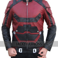 Red Charlie Cox Daredevil Leather Jacket - Available in All Sizes