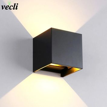 IP65 Waterproof 6W indoor outdoor Led Wall Lamp modern Aluminum Adjustable Surface Mounted Cube Led Garden Porch Light