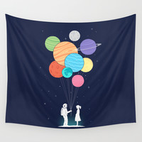 You are my universe Wall Tapestry by Ilovedoodle