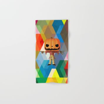 The Lord Disco Halloween Pumpkin | Scary | Fun | Kids Room Project Hand & Bath Towel by Azima
