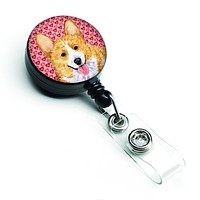 Corgi Love  Retractable Badge Reel or ID Holder with Clip