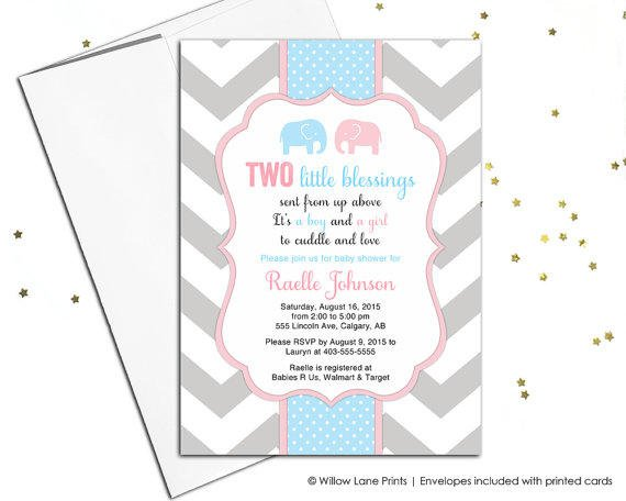 Shop twin baby shower invitation on wanelo printable twin boy and girl baby shower invitation twin baby s filmwisefo