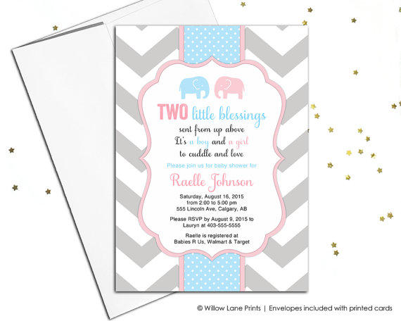 Printable twin boy and girl baby shower from willowlaneinvites on filmwisefo