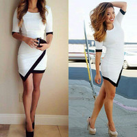 Asymmetrical Bodycon Mini Dress