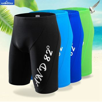 SABOLAY men's UV bunch Sunscreen Top quick dry fifth pants swimming trunks beach diving pants surfing Rash Guard beach shorts
