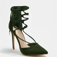 Green Laced Ankle Heel By Shoe Republic®