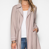 LONG SLEEVE MIDI TRENCH COAT