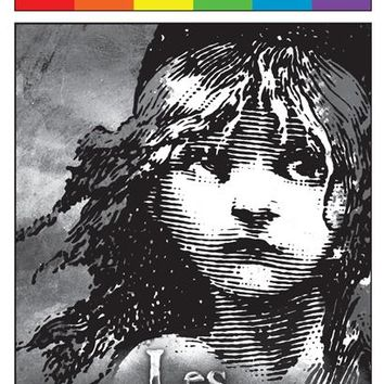 Les Miserables the Musical - June 2015 Playbill with Rainbow Pride Logo