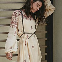 Free People Womens Natalya Embroidered Mini Dress