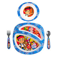 The First Years Disney Boys Jake and the Never Land Pirates 4 Piece Feeding Set