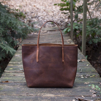 Leather Tote Bag - The Avery Tote
