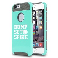 Apple iPhone 5 5s Shockproof Impact Hard Case Cover Bump Set Spike Volleyball (Teal)