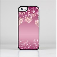 The Pink Sparkly Chandelier Hearts Skin-Sert for the Apple iPhone 5c Skin-Sert Case