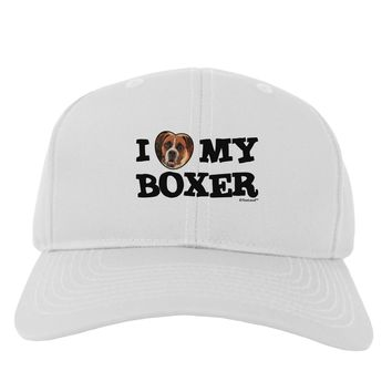 I Heart My Boxer Adult Baseball Cap Hat by TooLoud