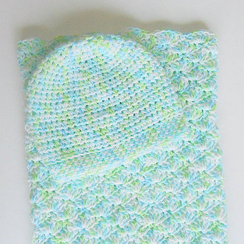 Baby Sleep Sack Infant Hat Newborn Boy Bunting Girl Cocoon Set Pod 0 - 6 Months Beanie Cap Pastel Blue Green White Spring Summer Clothing