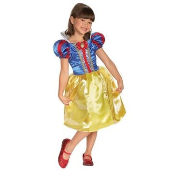 Girls Classic Sparkle Snow White New Version Fantastic Fairytale Character Princess Costume Give Child More Modern Look