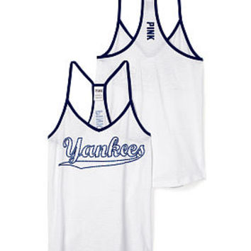 New York Yankees Strappy V-Neck Tank - PINK - Victoria's Secret