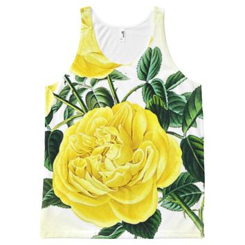 Bright Blossoms All-Over Printed Unisex Tank All-Over Print Tank Top
