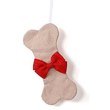 Dog Christmas Stocking Bone