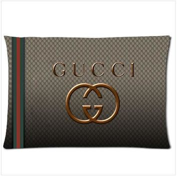 """HOT GUCCI printed Pillow Case 16x24"""" 18x26"""" AND SQUARE Two Side Picture"""