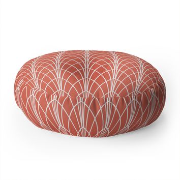 Heather Dutton Arcada Persimmon Floor Pillow Round